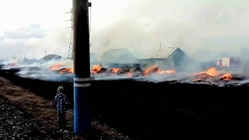 Все новые горячие точки возникают накарте природных пожаров России Новости Первый канал