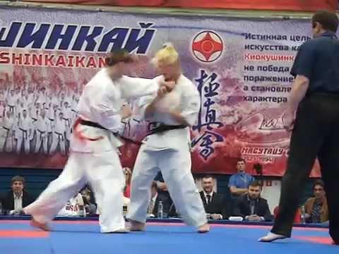 Kyokushin Karate Final 65 kg Grigoreva vs Gulko red Чемпионат России по киокушинкай каратэ