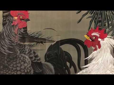 Les peintures sur soie de Jakuchu au Petit Palais - Vidéo exposition