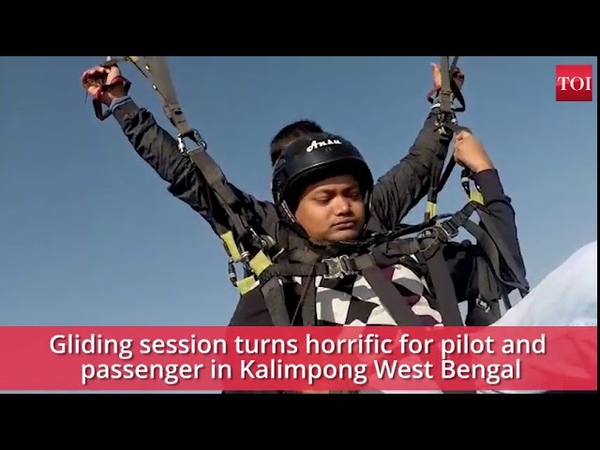 Caught on camera Paragliding pilot died in accident tourist injured
