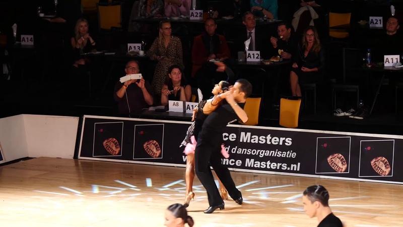 Alexander Chernositov and Arina Grishanina, Amateur Latin, Round of 48, Dutch Open 2018 Samba.