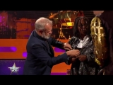 This is the moment when Whoopi Goldberg gave @BTS_twt her shirt and she said
