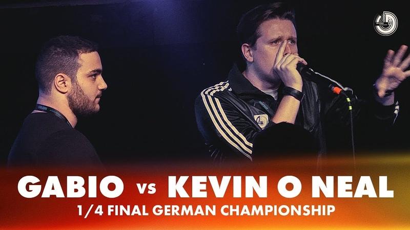 GABIO vs KEVIN O NEAL   1/4 FINAL   German Beatbox Championship 2018