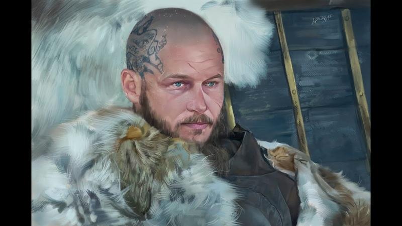 Конунг Рагнар - сериал викинги - фотошоп, компьютерная графика