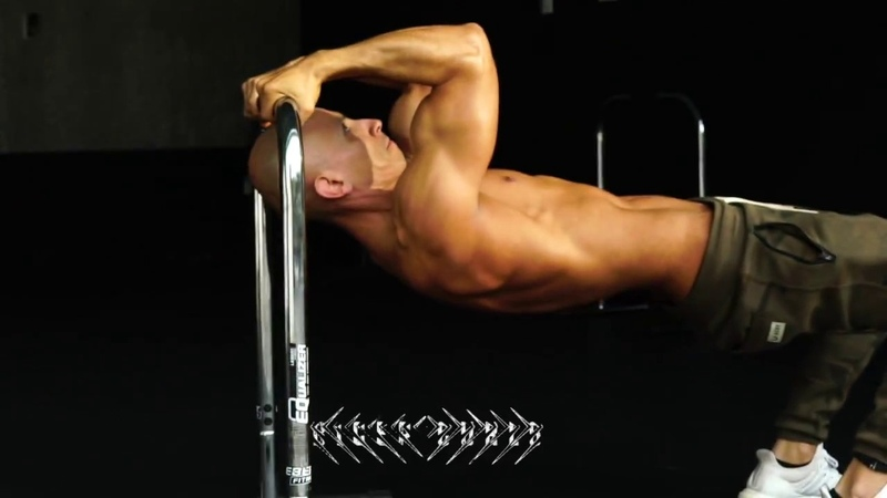 Frank Medrano on the Lebert EQualizer doing a Biceps Triceps Workout