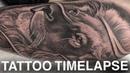 TATTOO TIME LAPSE LION PORTRAIT CHRISSY LEE