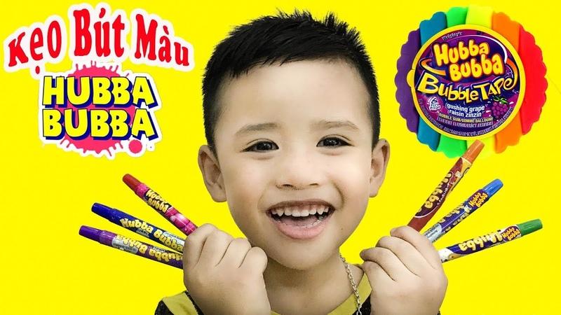 Trò Chơi Ăn Kẹo Bút Màu Hubba Bubba 100 ♥ Min Min TV ♥