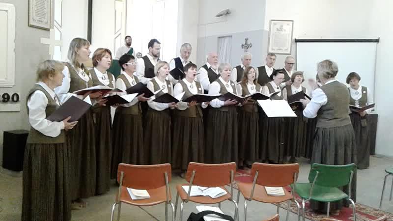 хор Инкери на воскресном богослужении в лютеранской Кирхе г.Сортавала .mp4