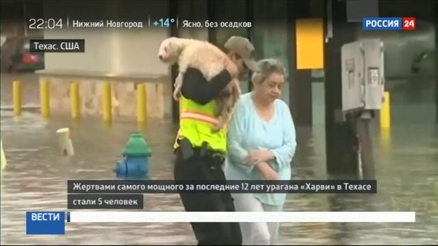 Новости на Россия 24 • Харви спровоцировал разрушительное наводнение в Хьюстоне