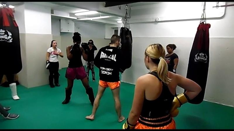 Entraînement de Muay Thaï Féminin au Skarbowsky Gym avec Anthony Defretin. Partie 1