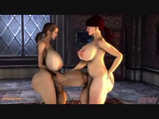 Futanari [3d, shemale, futa, big dick, urethra, cum, r34, porn]