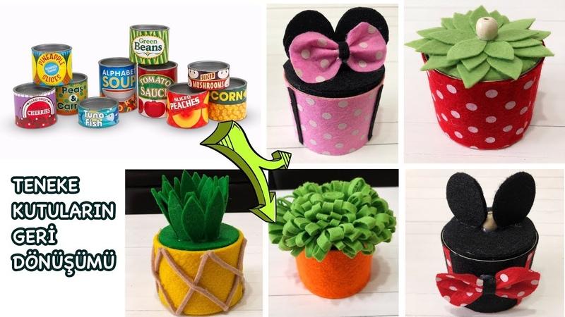 Teneke Konserve Kutusu ile Geri Dönüşüm | How To Reuse Tin Can |Making mini box | BEST OUT OF WASTE