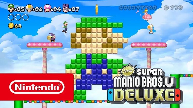 New Super Mario Bros. U Deluxe — Играй всегда, везде и со всеми (Nintendo Switch)