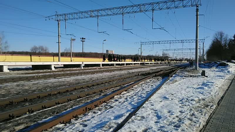ЕР2К-1148 на станції Таруська Курській напрямок! 17.02.2019