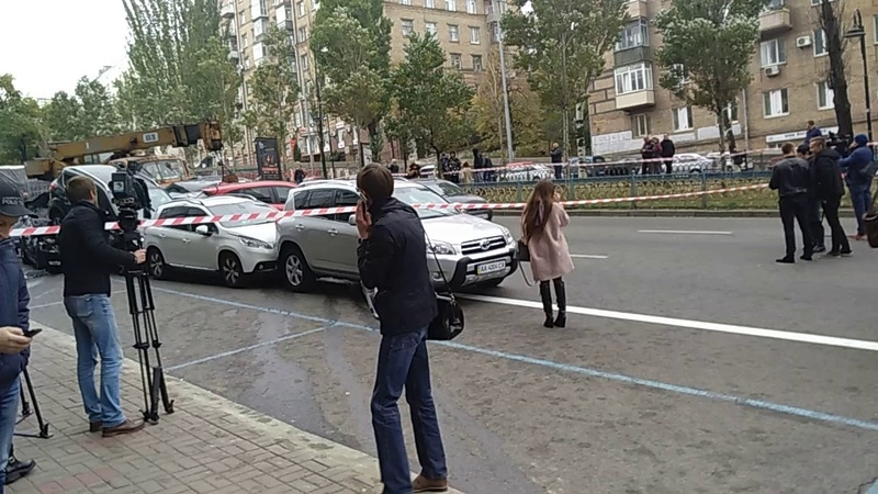 Киев,авария на бульваре Леси Украинки!