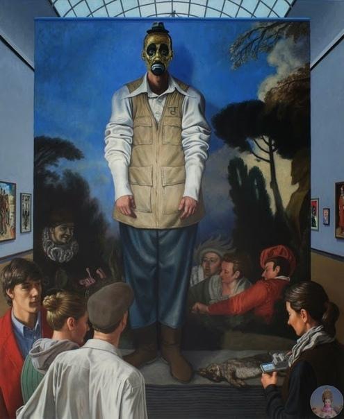 Живопись о живописи Mar Lang - канадский художник. Родился в 1966 году. В 1987 году получил диплом с отличием колледж искусств и дизайна в Калгари. Окончил Школу визуальных искусств в Нью-Йорке,