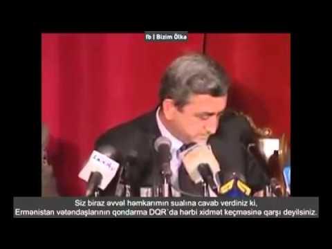Serj Sarkisyan, Azerbaycanli jurnalist Murad Huseyinovun qarsisinda bele aciz qalmisdi . 2001 ci il