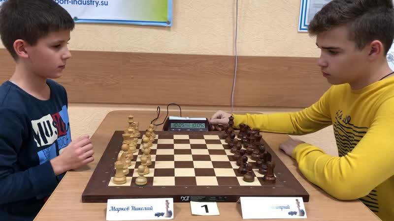 2018.11.03 (Б) Субботний рапид. Марков,Николай — Осетров,Дмитрий (0-1).