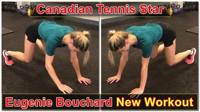 Canadian Tennis Star Genie Bouchard New Workout Video in GYM || Eugenie Bouchard