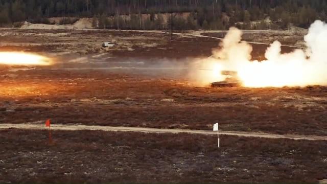 Volumetric Explosions! Боевые стрельбы ТОС-1А Солнцепёк в Ленинградской области