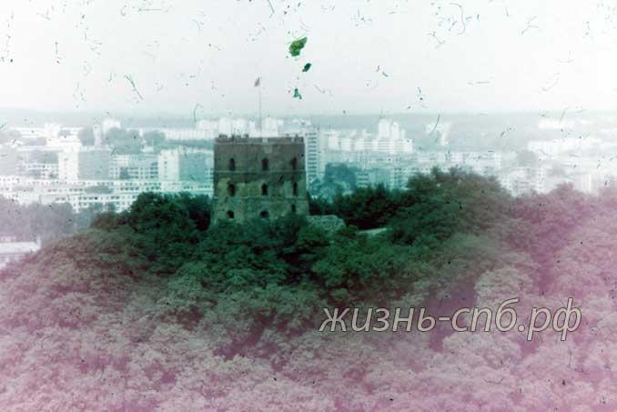 Литовская ССР. г. Вильнюс. Башня Гедиминаса, XV в. на старых фото