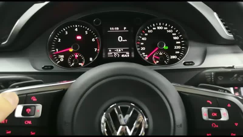 VW CC 2012 года руль R Line нового образца