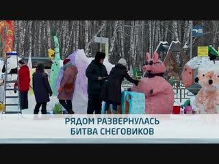 Забег Дедов Морозов и Битва снеговиков