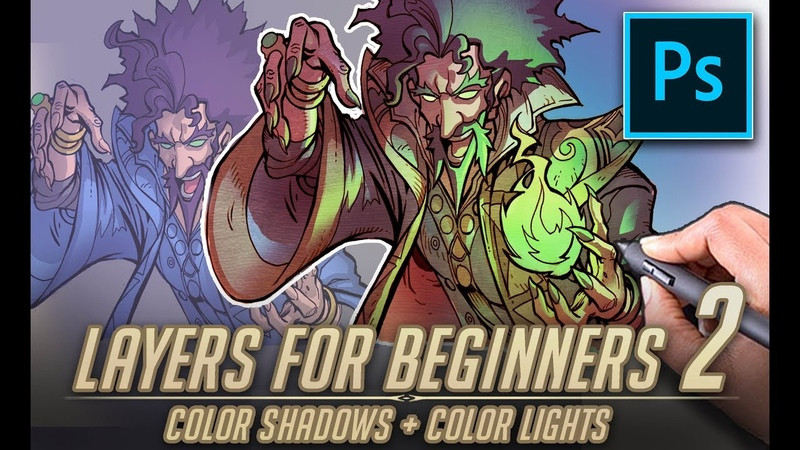 Photoshop Layers for beginners part 2 - Addling color to lights and Shadows.