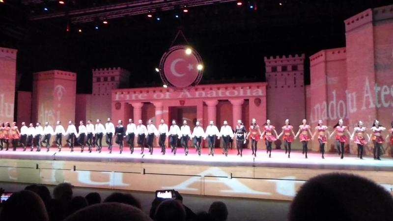 Фрагмент шоу Огни Анатолии Турция