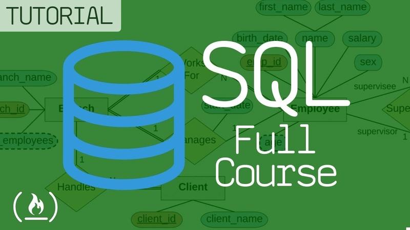 SQL - Full course database