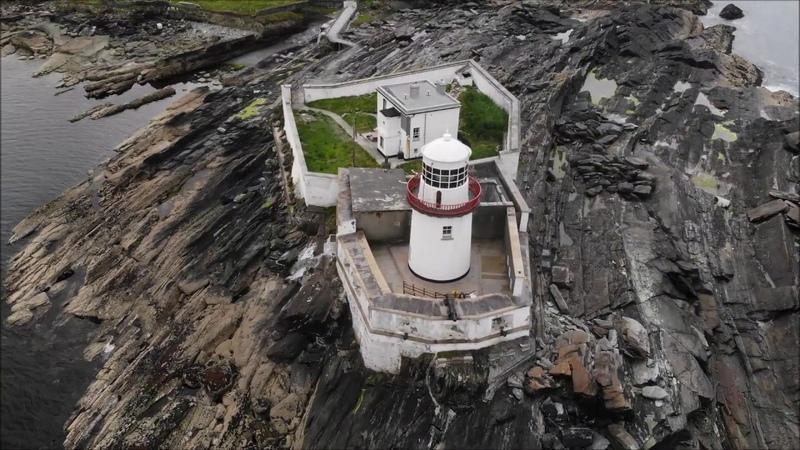 DRONE View Ireland Valentia Island LIGHTHOUSE ДРОН Ирландия МАЯК на острове Валентия