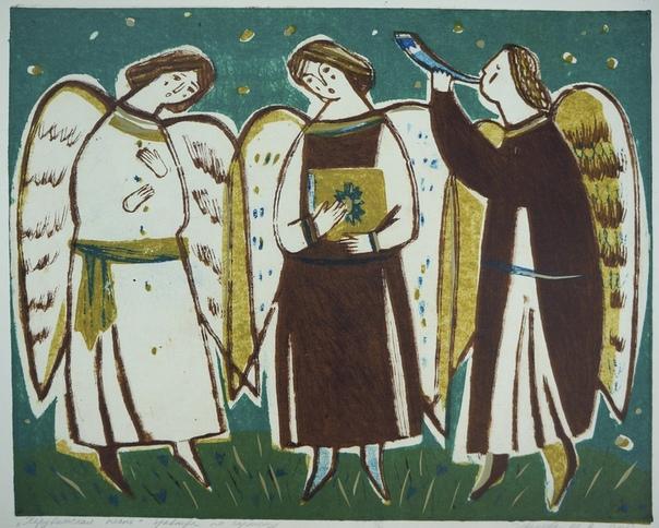 с Рождеством! художник Маша Иванова