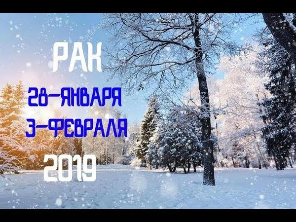 Таро прогноз на 28 января 3 февраля 2019 РАК♋