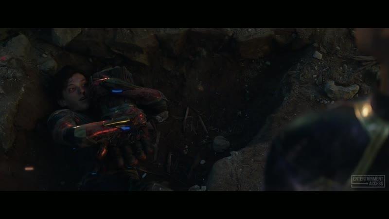 Captain Marvel helps Spiderman Scene Avengers Endgame
