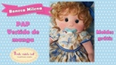 Pap vestido boneca Milena molde grátis Valéria Gelli