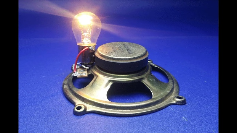 Free Energy speaker magnets with Light Bulbs 12v, at home