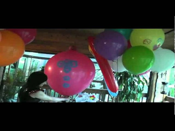 Balloon Mistress inflates and pops a perfectly good clown balloon