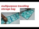 Recycle packing material /best DIY craft /multipurpose travelling storage bag/wall hanging