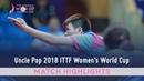 Ishikawa Kasumi vs Chen Szu Yu | 2018 ITTF Women's World Cup Highlights (R16)
