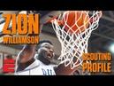 Zion Williamson preseason 2019 NBA draft scouting video   DraftExpress