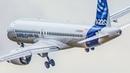 NEW AIRBUS A220 Bombardier CS300 DEPARTURE AIRSHOW LANDING FARNBOROUGH AIR SHOW 2018 4K