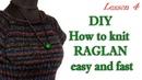 Как вязать реглан просто и быстро МК 4 DIY Knit Reglan How to knitting sweater
