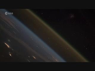 Запуск корабля в космос — вид с МКС