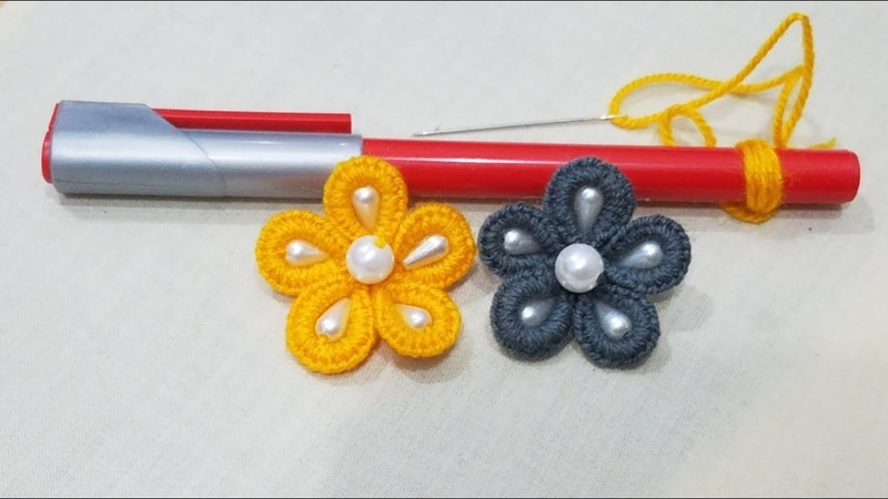 Hand Embroidery:Amazing Sewing Hack Pointer Trick Making Flower / Easy Embroidery Part 26