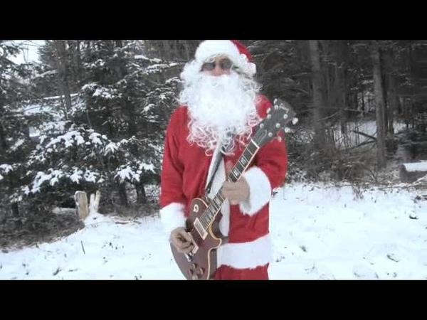 Christmas Rock-n Roll. Santa's Gotta Brand New Ride