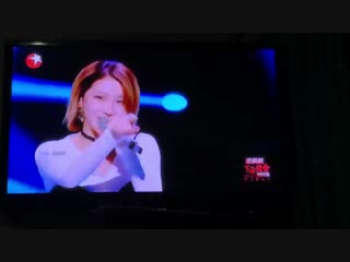 [LQ VIDEO] 181021 Участница поёт