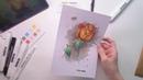Анастасия Лемура Обзор коробочки Doodle Sketch DealBox и превью к видео уроку июнь 2018