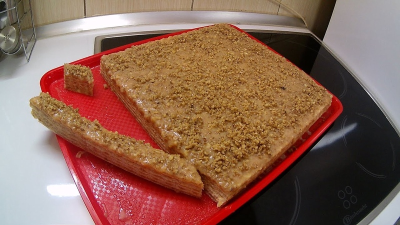 Сербский вафельный торт с карамельным кремом, грецкими орехами, печеньем / KARAMEL OBLANDA SA PLAZMOM I ORASIMA - savršenstvo ukusa