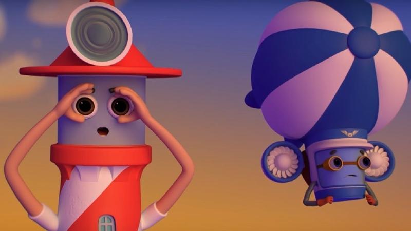 Домики - Маяк - Обучающий мультфильм для детей - о море