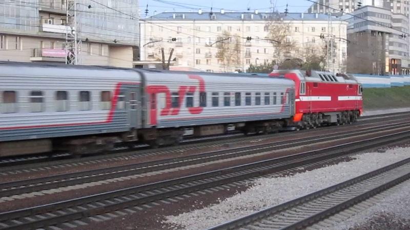 ЭП2К-004 с 4-х вагонным поездом №627 Новосибирск - Кулунда